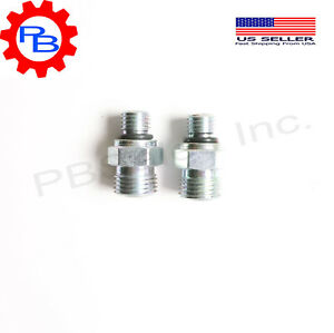 Qty 2 Turbo Oil Supply Line Fitting With O Rings For Dodge Cummins 24v 98 06