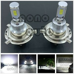 H4 9003 Cree Led Headlights Bulbs 40w 7000lm Kit High Low Beam 6000k Super White