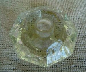Large Clear Glass Knob Antique 2 3 4 X 1 Thick Excellent Condition