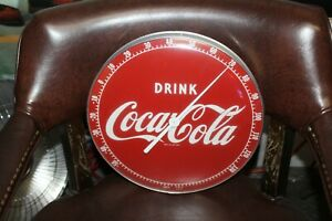 1950s Coca-Cola Advertising Red Thermometer