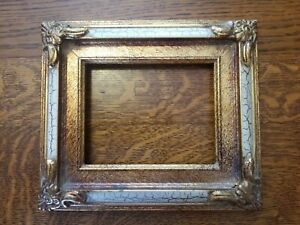 Gorgeous Vintage Baroque Ornate Wood Picture Frame Gold Gilt Gesso Holds 4 X 5