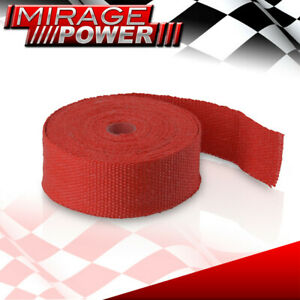 30 Feet Race Exhaust Header Induction Piping Red High Temp Heat Tape Wrap Cover