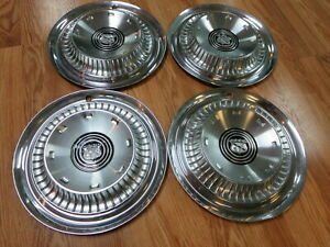 Four 1959 Buick 15 Lesabre And Invicta Hubcaps Wheel Coves Hub Caps Original