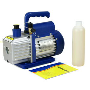 Rotary Vane Vacuum Pump 1 4hp Hvac R134a Air Refrigerant Conditioning 3 5 Cfm