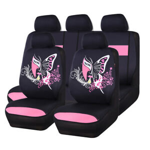 Car Pass Car Seat Cover Butterfly Automobile Facebook Universal Fit Split Bench
