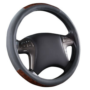 Car Pass Leather New Arrival Gray Color Universal Auto Car Steering Wheel Cover