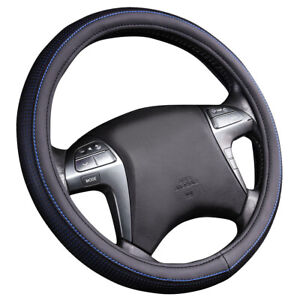 Car Pass New Design Leather Blue Car Steering Wheel Covers Fit For Car Truck Suv