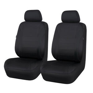 Car Pass Car Seat Covers Waterproof Black Universal Fit For 2 Front Seat Covers
