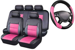 Carpass New Rainbow Pink Color Breathable Car Seat Covers For 40 60 60 40 50 50