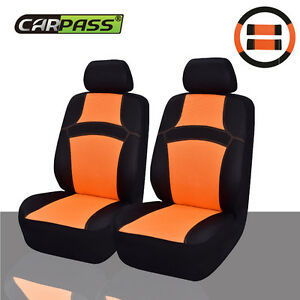 Car Pass Sandwich Rainbow Breathable Universal Car Seat Covers For 2 Front Seats