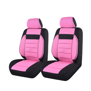 Car Pass Car Seat Cover Pink Universal Fit For Vehicle Car Suv Truck Van 2 Front