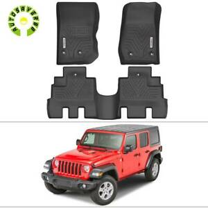 All Weather Floor Mats Liners For 2014 2017 Jeep Wrangler 2018 Jk Unlimited