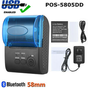 Mini 58mm Bluetooth Wireless Thermal Receipt Printer F Ios Android Windows O6v7