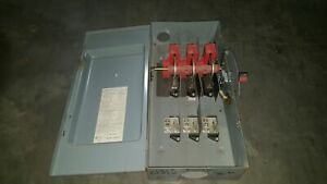 Square D Model H 364 600 V 200amps 150hp Safety Switch