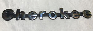 1987 1992 Jeep Cherokee silver front Fender tailgate Emblem