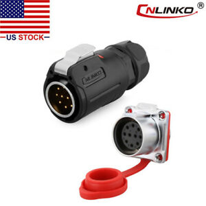 Cnlinko 10 Pin Power Connector Male Plug Female Socket Waterproof Heavy Duty