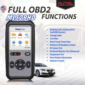 Autel Heavy Duty Truck Car Auto Scan Tool Obd2 Code Reader Diagnostic As Cr hd