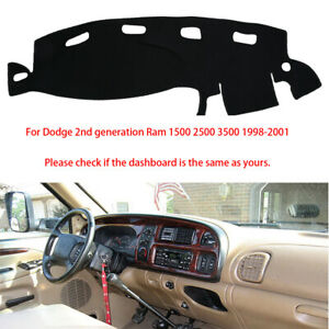 Car Dashboard Mat Cover Sunshade Pad For Dodge Ram 1500 2500 3500 1998 2001