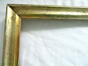 Antique Fits 10 X 17 Gold Gilt Picture Frame Wood Gesso Fine Art Country