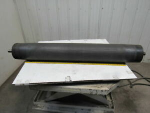 59 X 8 Rubber Coated Crowned Center Conveyor Belt Drive Tension Roller