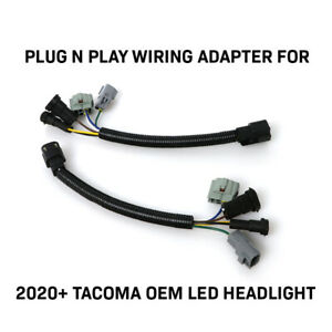 Plug And Play Adapters For 16 20 Toyota Tacoma To Fit 2020 Full Led Headlights