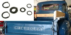 Back corner Glass Gasket Rubber Seals For 1947 54 Chevy gmc Truck 5 Window