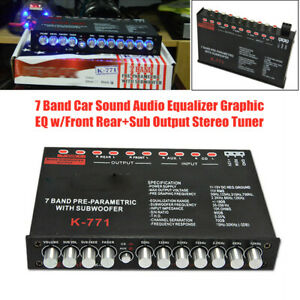 7 band Pre parametric With Subwoofer Car Audio Eq Tuning Crossover Suv Equalizer
