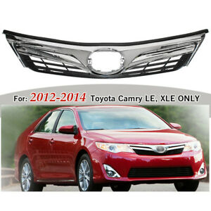 For Toyota Camry Le Style 2012 2014 Front Bumper Upper Hood Grille Chrome 2013
