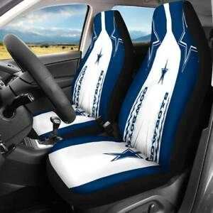 Dallas Cowboys 2pcs Of Car Seat Cover Universal Fit Auto Front Seat Protect Gift