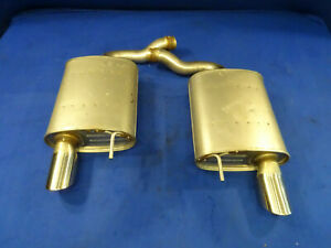 15 16 17 Ford Mustang Gt Oem Take Off Pair Of Mufflers Tips Irs Q59