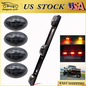 For 99 10 Ford F350 Smoked Red amber Led Dually Bed Fender Lights id Tail Light