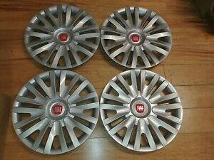 15 Custom Hubcaps Wheelcovers Fits Fiat 500 4 Brand New Better Than Oem