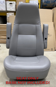 M2 Freightliner Semi Truck Gray Vinyl Bostrom Air Ride Bucket Seat