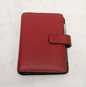 Coach Berry Saffiano Leather Tab Jacket Agenda Planner Organizer 6 Ring Binder