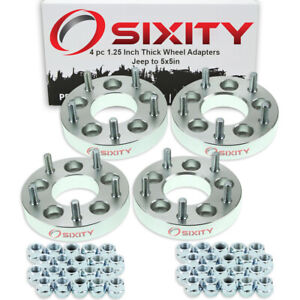 4pc 5x4 5 To 5x5 Wheel Spacers Adapters 1 25 For Jeep Compass Liberty Vl