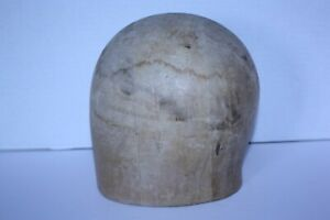 Vintage Antique Wood Wooden Hat Block Head Display Mold Millinery 21 3 Part