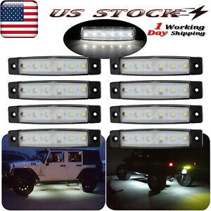 8x White Led Rock Lights For Jeep Offroad Truck Utv 4x4 Bed Under Body Fog Light
