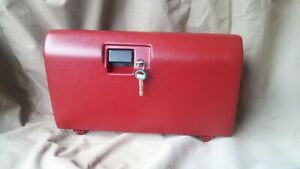 1992 1993 1994 1995 1996 Ford Bronco F150 Red Locking Glove Box Door With Key