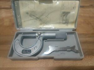 Nsk Micrometer Yuxb 01 1 1 0 0001 Japan W Case Instructions Machinist Tools