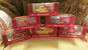 Lot of Coca-Cola 1930's Train Accessory K-Line Complete Sets Of 6 Diecast