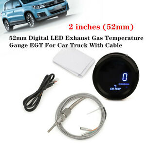 52mm Digital Led Exhaust Gas Temperature Gauge Egt Universal For Car W cable Kit