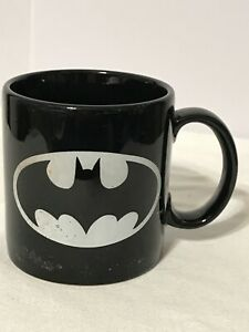Vintage Batman Coffee Mug Black DC Comics 1964 Applause Made In Korea #45028