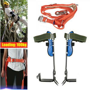 Adjustable Tree Climbing Spike Spurs Safety Belt Straps Rope For Climbing Trees
