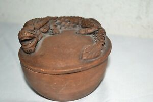 Vintage Antique Red Clay Dragon Earthenware Incense Burner Pot Chinese Yixing
