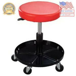 Heavy Duty Pneumatic Rolling Mechanics Seat Rolling Stool Chair Tools Auto Shop
