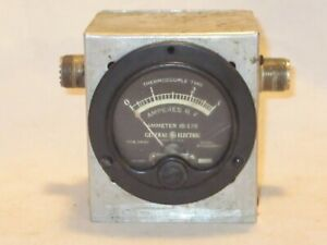 Vintage General Electric Ammeter Is 178 Dw 52 8dw52abr14 Thermocouple Type R f
