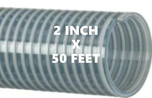 50 Ft Roll Of 2 Inch Kanaflex 112 Cl2 Water Suction Hose Clear Pvc