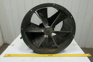 American Mfg 27 Tube Axial Duct Fan Belt Drive 23 Fan Blade