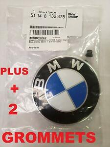Bmw Hood Roundel Emblem Logo Replacement Hood 82mm 2 Grommets For All Models B