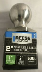 Reese Towpower 2 Stainless Steel Hitch Ball 6000 Lb Capacity New 7011300